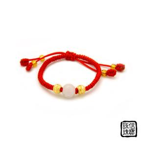 中國結彌月金飾-福氣