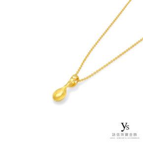 彌月金飾-小金湯匙項鍊