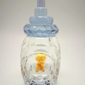 純金彌月金飾-藍色水晶奶瓶