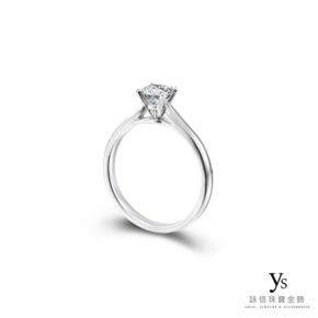 訂婚鑽戒-經典基本款四爪鉑金鑽戒