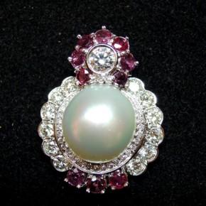 珠寶訂做-南洋珠鑽石墜