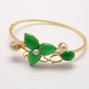 珠寶訂做-黃K金手環(別針改為手環)