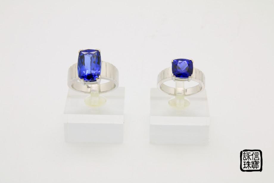 藍寶石對戒1