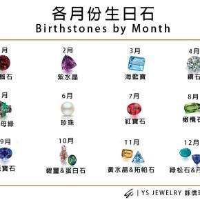 珠寶知識-你的生日石是哪一種呢?