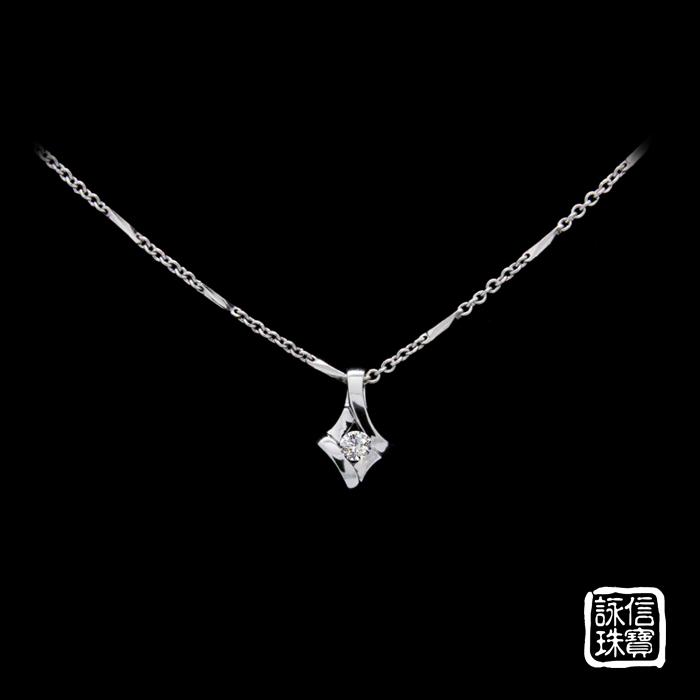 白k金鑽石墜2
