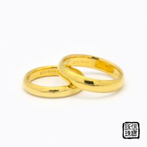 手工金飾-手工黃金婚戒