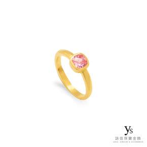 黃金戒指-復古水鑽黃金戒