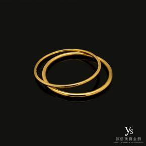 手工金飾-極簡黃金手環