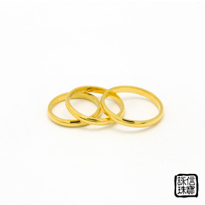 手工金飾-手工黃金尾戒