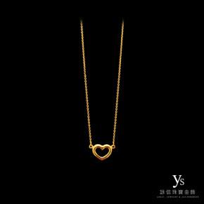 黃金小套鍊-愛心項鍊