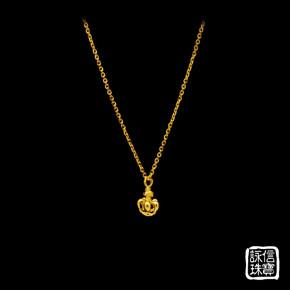 黃金項鍊-皇冠項鍊