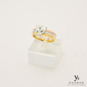 珠寶訂做-三色金鑽戒