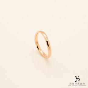 玫瑰金戒指-線條鑽戒