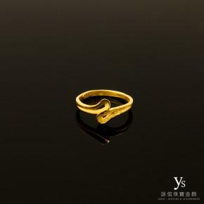 黃金尾戒-線條黃金戒