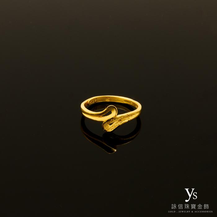 線條黃金尾戒