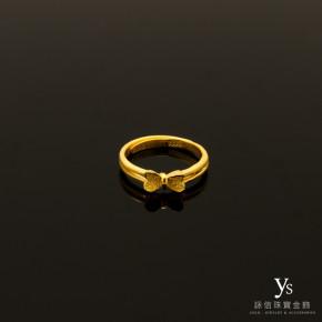 黃金戒指-蝴蝶結黃金尾戒