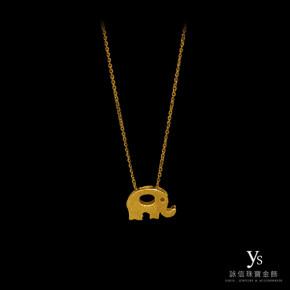 黃金墜子-大象黃金墜