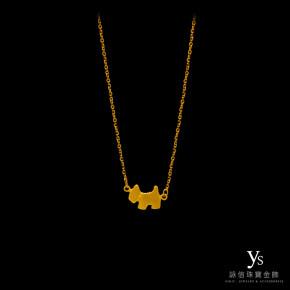 黃金項鍊-狗狗黃金墜