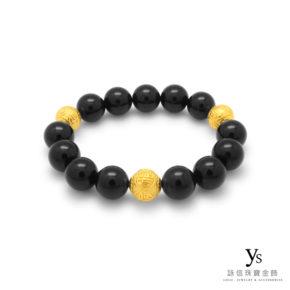 黃金手環-黑玉髓手環