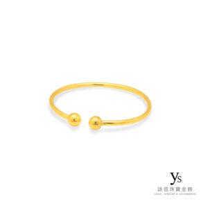 彌月金飾-圓球C型手環