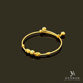 彌月金飾-刻花黃金手環
