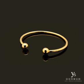 手工金飾-可調式黃金手環