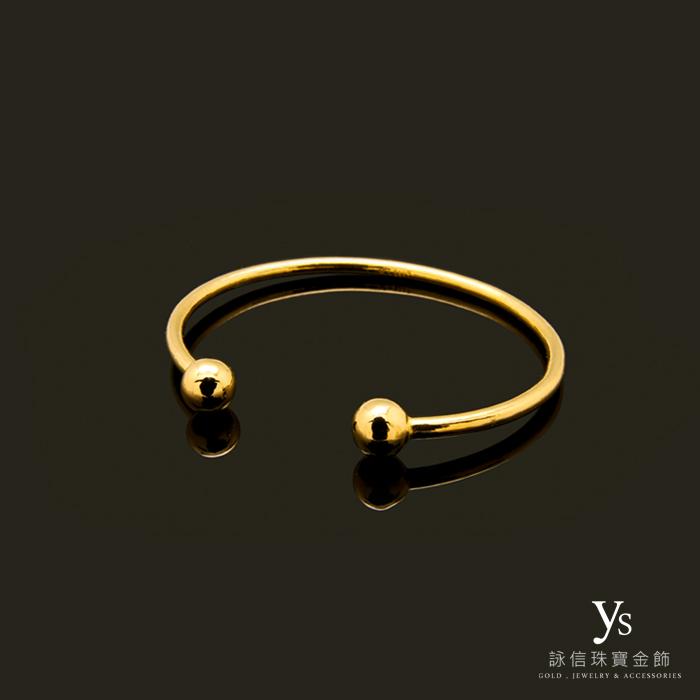 手工調整式黃金手環