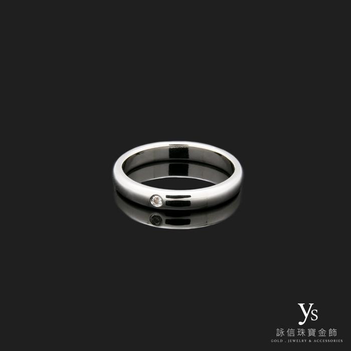 單鑽戒指PT950白金
