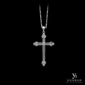珠寶訂做-十字架鑽石墜(PT950鉑金)