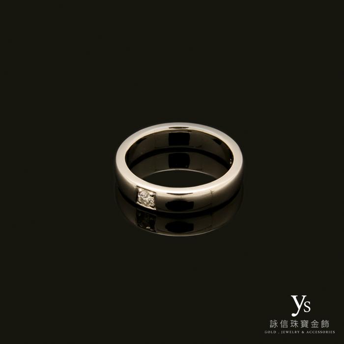 鉑金男生戒指