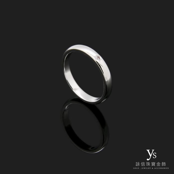 PT950鉑金單鑽戒指