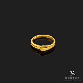 黃金尾戒-簡單線條黃金尾戒