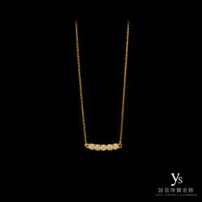 黃金墜鏈-排鑽黃金墜鍊