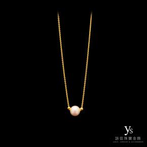 黃金小套鍊-氣質珍珠項鍊