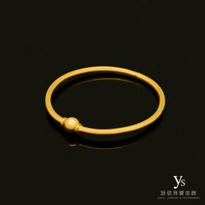 黃金手環-素面純金手環(圓球開關)