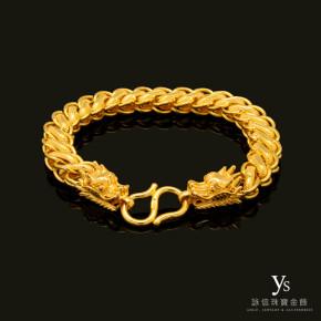 黃金手鍊-金龍手鍊