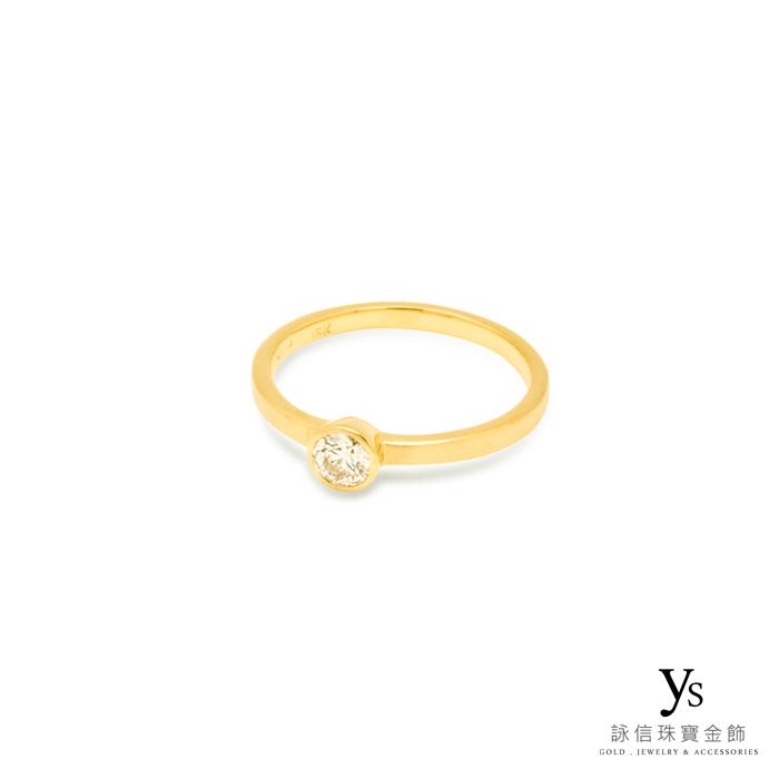 黃K金包鑲戒指