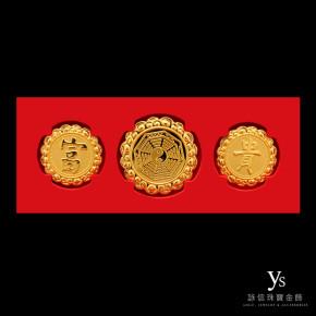 彌月金飾-黃金帽花
