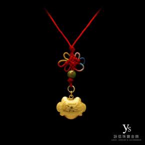 彌月金飾-金鎖片(膨)