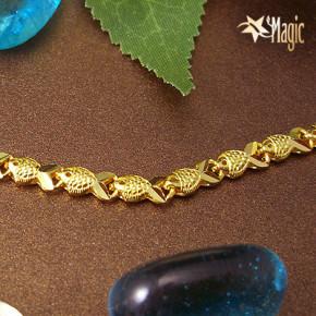 黃金項鍊-魚鍊YSNL001