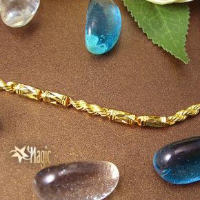 黃金項鍊-六角麻花鍊YSNL008