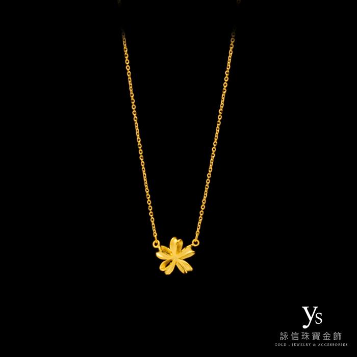 黃金項鍊-小緞帶項鍊