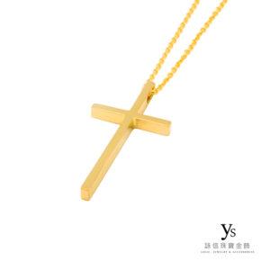 手工金飾-手工黃金十字架
