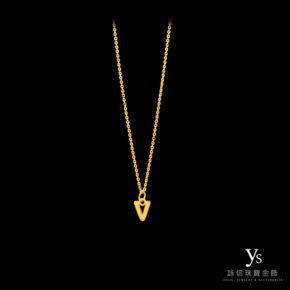 黃金項鍊-英文字母黃金墜
