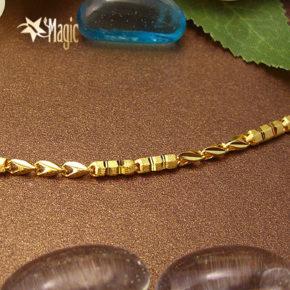 黃金項鍊-刻花六角鍊YSNL010