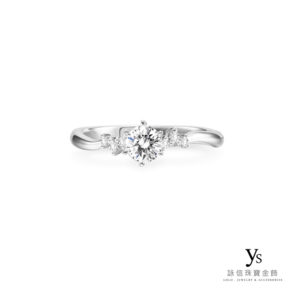 求婚鑽戒-日系典雅鉑金鑽戒