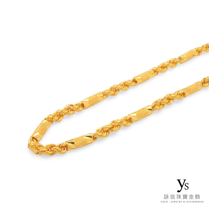 黃金項鍊-六角麻花黃金項鍊