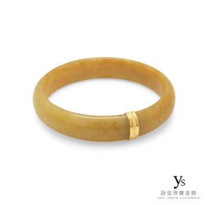 珠寶維修-玉鐲斷裂包邊(18K黃K金)