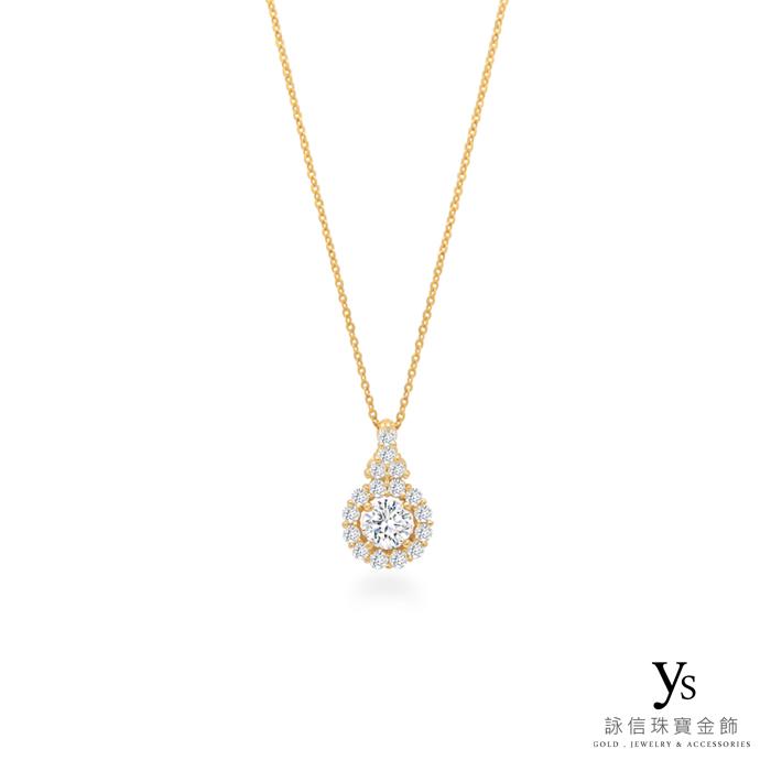 珠寶訂做-黃K金盤鑽墜子