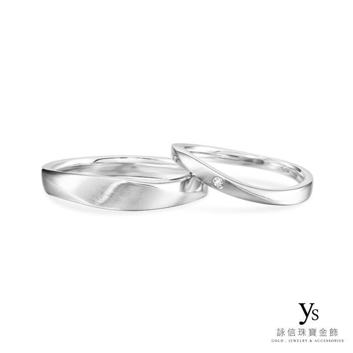 鉑金對戒-極簡線條結婚對戒